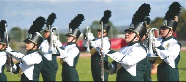 Area bands compete in annual marching festival on Saturday