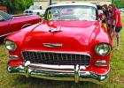 This 1955 Chevy Bel Air, admired by Allyson, left, and Amy Hamilton, was one of several classic cars on display.